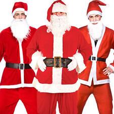 Santa Claus + Hat + Beard Fancy Dress Father Xmas Christmas Adult Mens Costumes