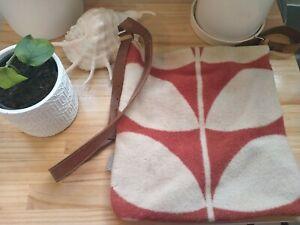 XL Orla Kiely Wool, Canvas And Leather Satchel
