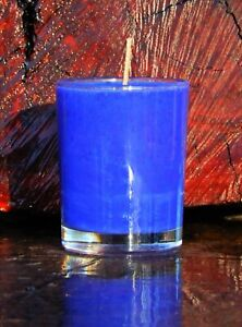 40hr Blue SOUR PATCH LOLLIES Scented SOY Votive Jar CANDLE VEGAN & CRUELTY FREE