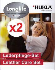 2x Original Longlife LederPflege Set by Hukla f. Glattleder 2x150/2x50ml NEU,OVP