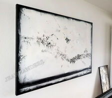 JEAN SANDERS --- Strukturbild-- 150x100x4cm - schwarz-weiss-silber