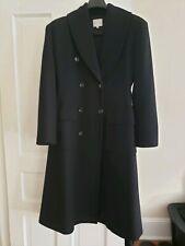 CELINE Black Button Front Wool Trench Coat Sz 40