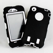 SHOCK PROOF HARD ARMOUR CASE COVER FOR IPHONE 3G 3GS- BLACK / WHITE