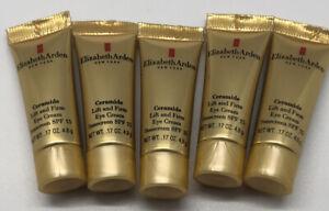 5PK Elizabeth Arden Ceramide Lift and Firm Eye Cream SPF 15 0.17oz