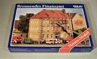 Brennendes Finanzamt Haßfurt Unterfranken POLA H0 mit Rauchentwickler und Lampen