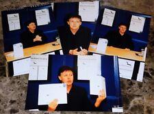 PAUL MCCARTNEY 2001 blackbird singing UK BOOK SIGNING PHOTO SET x4 THE BEATLES