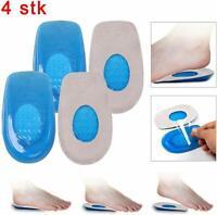 2 Fersenpolster Silikon Einlegesohlen Gel Fersenkissen Schuheinlagen Fersensporn