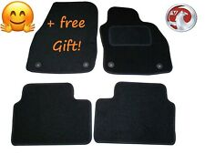 Tailored Black Car Floor Mats Carpets Clip for Vauxhall Astra H Mk5 2004-2009
