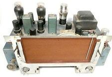 vintage FARNSWORTH model BC105 TUBE RADIO:  CHASSIS - tubes lite / line noise