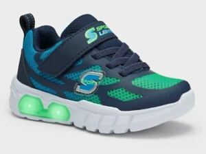 Toddler Boys' S Sport by Skechers Sylis Light Up Sneakers Green - SIZE 11