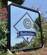 Budweiser Chicago Cubs Mlb Baseball Beer Bar Pub Man Cave Mirror New
