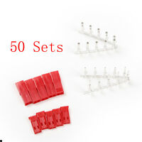 50sets 2-Pin R/C RC JST BEC Connector Battery Switch Plug  Female Male Crimps