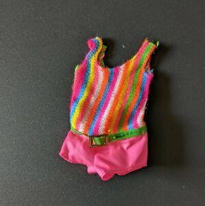 Barbie Doll FRANCIE Swimsuit #1170 TNT TWIST N' TURN Striped Green Belt Vintage
