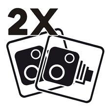 2X Car CCTV Camera Icon Black Car Van Taxi Window Bumper Sticker Decal Dash Cam