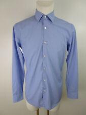Hugo Boss Herren Hemd Dress Shirt Hellblau 39 / 15,5 Slim Fit Kentkragen Langarm