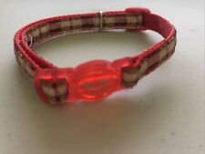 Safe Cat Cat Collar Red And Gold Plaid
