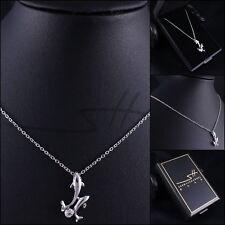 Delphin-Kette Halskette *Delfine*, Weißgold pl., Swarovski Elements, inkl. Etui