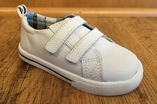 NWT HEALTHTEX BOYS SIZE 3W TODDLER INFANT WHITE GENUINE LEATHER ATHLETIC SHOES