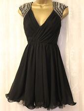 Lipsy VIP Diamante Embellished Tutu Wrap V Neck Mini Dance Prom Party Dress 6 34