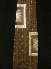 VINTAGE 1950'S-1960'S BEAU BRUMMELL RAYON BROWN TIE