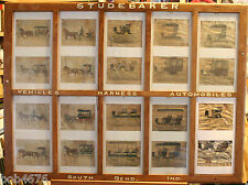 """STUDEBAKER Hand Painted Dealer Sign circa 1904-1920 Old Catalog 39"""" x 29"""" LOOK"""