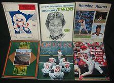 1960's to 1990's Baseball Programs Twins Orioles Cardinals Astros MLB