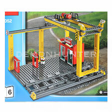 LEGO CITY STAZIONE FERROVIARIA CARGO CON GRU 2 TRACK 60052 Treno Cargo-SENZA SCATOLA