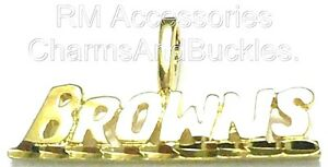 Browns Charm Word Pendant EP Gold Plated with a Lifetime Guarantee