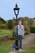 """Cast Iron 95"""" Lamp Post Victorian style - clear glass (E40)"""