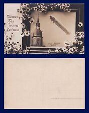 """GERMANY AVIATION LUFTSCHIFF ZEPPLIN DIRIGIBLE """"DEUTSCHLAND UBER DORFMUND"""" 1911"""