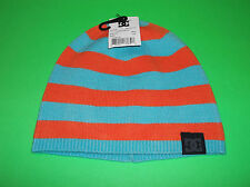 DC SHOE CO USA DC SHOES SKATEBOARD SNOWBOARD BMX BLUE & ORANGE BEANIE TOQUE