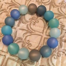 NEW ADI FASHION JEWELRY BRACELET - 14mm, mixed blue & gray - made in Germany