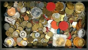 Large Mixed 5.04 LBS Exonumia Lot of Various Tokens, Medallions and More