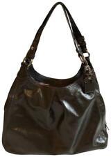 Coach Maggie Gray Grey Patent Leather Purse Shoulder Bag Handbag 13900