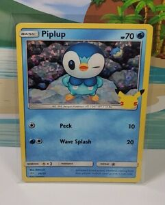 2021 Pokemon Piplup Holo 20/25 McDonalds 25th Anniversary Holographic Card