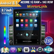 9.7'' Android 8.1 HD 2Din Car Stereo Radio GPS Bluetooth WIFI Vertical Screen