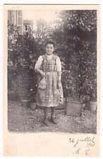 CARTE PHOTO PORTRAIT FILLE JEUNE FEMME ESPAGNOLE EVENTAIL - RPPC 1910
