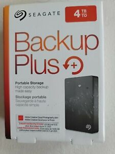 Seagate Backup Plus Portable 4TB External Hard Drive HDD – Black USB 3.0 for PC