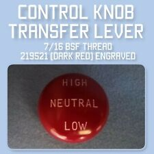 Land Rover series 1 Transfer Lever control knob darkred bakelite 219521 Engraved