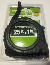 "25ft 1"" ACCURATE - RELIABLE - DURABLE EASY USE PITTSBURGH quikfind tape measure"
