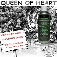 HYDROGRAPHIC FILM WATER TRANSFER HYDRO DIP 6OZ. ACTIVATOR QUEEN HEARTS DIP KIT