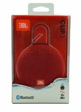 JBL Clip 3 Portable Waterproof Wireless Bluetooth Speaker - Red *CLIP3RED