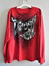 Boys Size L 14/16 Clothes Red Tapout Long Sleeves Shirt NWT $22.00 TapOut