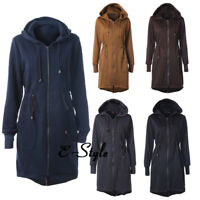 Winter Warm Ladies Hooded Long Quilted Coats Ladies Zipper  Jacket Outwear