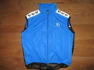 Men's Pearl Izumi Zephrr Blue Full Zip Wind Cycling Vest Mens Sz. L