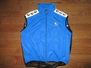 Men's Pearl Izumi Zephrr Blue Full Zip Wind Cycling Vest Mens Sz. L