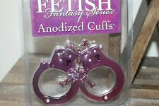 Fetish Fantasy Purple Anodized Hand Cuffs New in Package N8