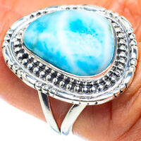 Larimar 925 Sterling Silver Ring Size 7.5 Ana Co Jewelry R58751F