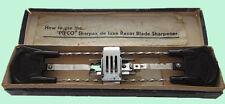 RARE VINTAGE PIFCO SHARPEX DE LUXE RAZOR BLADE SHARPENER - BOXED WITH ORIGINAL I