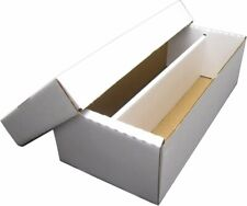 1600 Count Size Shoe Box 2-Row ASSEMBLED Sports Gaming Trading Card Storage Box